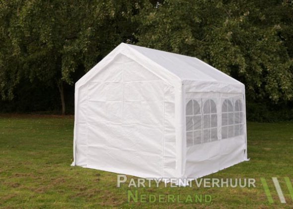 Partytent 3x3 meter achterkant huren - Partytentverhuur Den Bosch