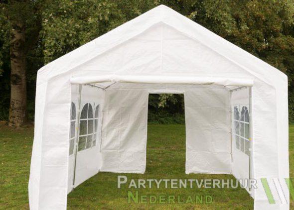 Partytent 3x3 meter voorkant met deur huren - Partytentverhuur Den Bosch
