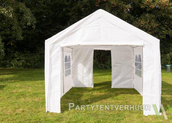 Partytent 3x4 meter voorkant met deur huren - Partytentverhuur Den Bosch