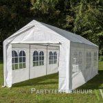 Partytent 3x6 meter zijkant huren - Partytentverhuur Den Bosch