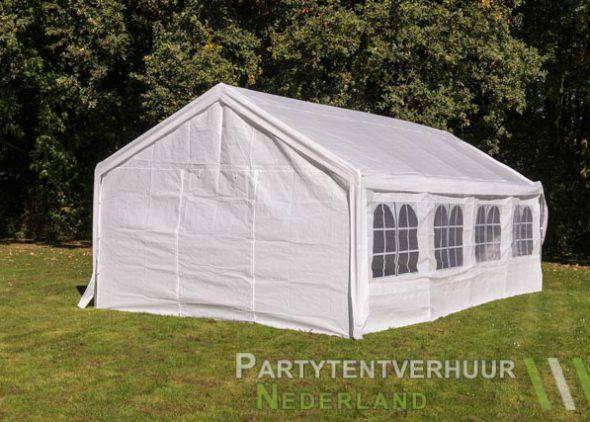 Partytent 4x8 meter achterkant huren - Partytentverhuur Den Bosch