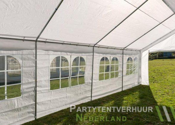 Partytent 4x8 meter binnenkant schuin huren - Partytentverhuur Den Bosch