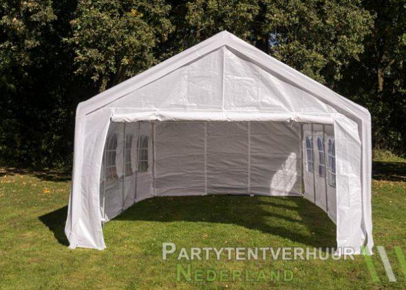 Partytent 4x8 meter voorkant huren - Partytentverhuur Den Bosch