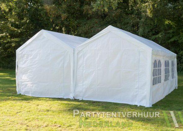 Partytent 6x6 meter achterkant huren - Partytentverhuur Den Bosch