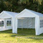 Partytent 6x6 meter voorkant huren - Partytentverhuur Den Bosch