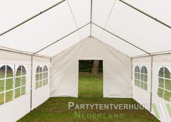 Partytent 4x6 meter voorkant met deur huren - Partytentverhuur Den Bosch