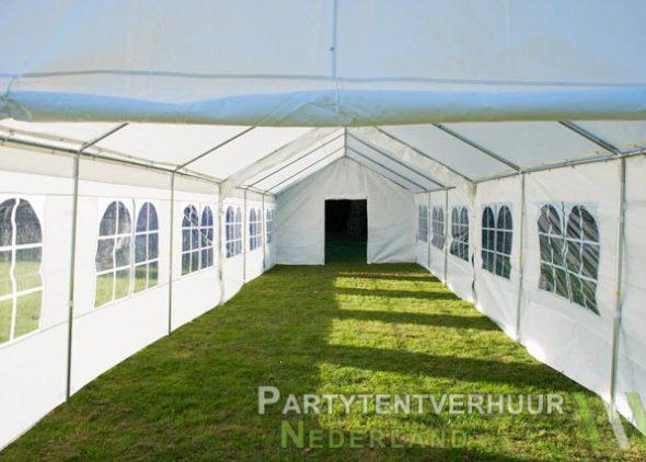 Partytent 6x12 meter binnenkant met deur huren - Partytentverhuur Den Bosch