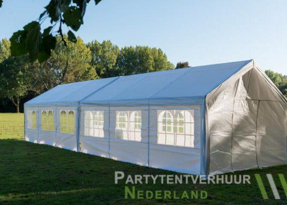 Partytent 6x12 meter zijkant links huren - Partytentverhuur Den Bosch