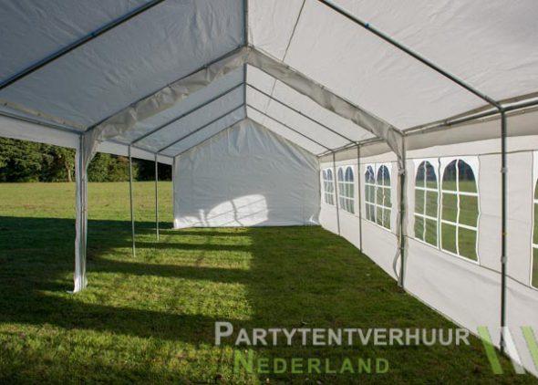 Partytent 6x12 meter zijkant links open huren - Partytentverhuur Den Bosch