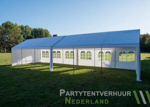 Partytent 6x12 meter zijkant open huren - Partytentverhuur Den Bosch