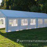 Partytent 6x12 meter zijkant rechts huren - Partytentverhuur Den Bosch