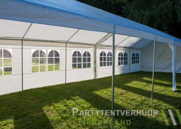 Partytent 6x12 meter zijkant rechts open huren - Partytentverhuur Den Bosch