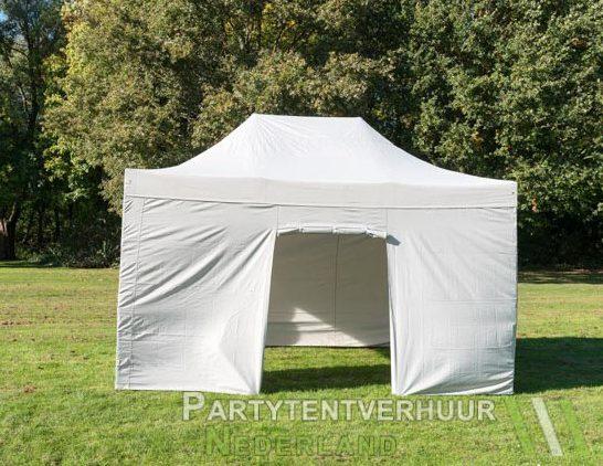 Easy up tent 3x4,5 meter voorkant huren - Partytentverhuur Den Bosch