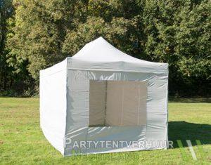 Easy up tent 3x4,5 meter voorkant schuin huren - Partytentverhuur Den Bosch