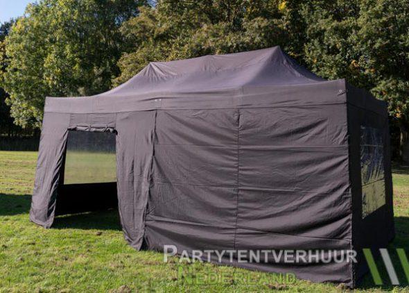 Easy up tent 3x6 meter zijkant met deur huren - Partytentverhuur Den Bosch