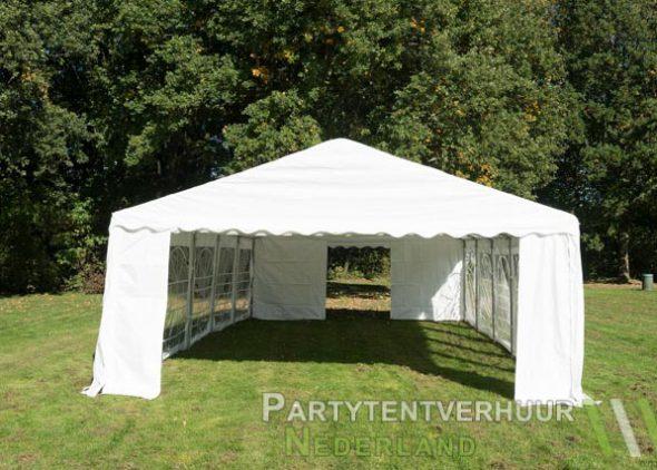 Partytent 5x10 meter voorkant huren - Partytentverhuur Den Bosch