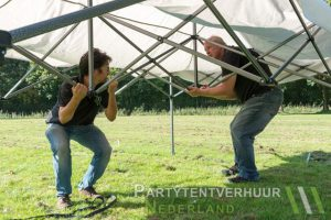 Opbouwen Easy up tent
