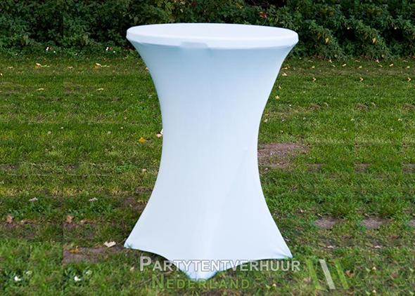 statafel met witte rok Den Bosch